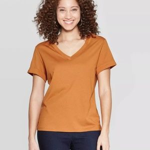 Women's Short Sleeve V-Neck T-Shirt - A New Day XL
